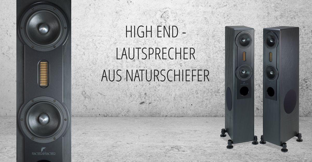 High End-Lautsprecher aus Naturschiefer